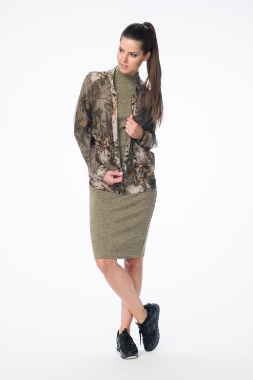 Бомбер М-1367  Платье М-1378