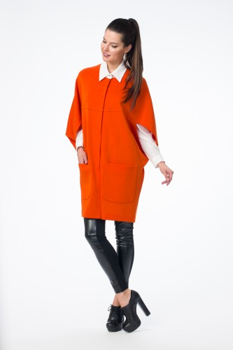 Кардиган  М-1289  Оранжевый