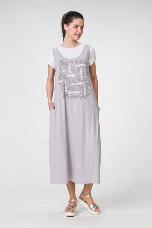 Платье М-1350 белый