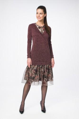 Платье М-1368 бордо