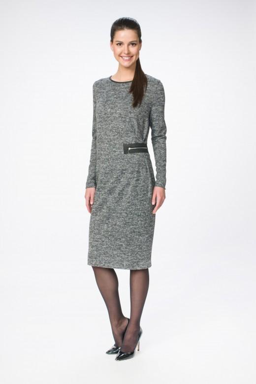 Платье М-1369 серый