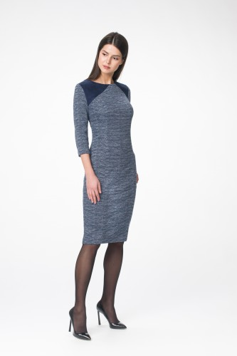 Платье М-1432 синий