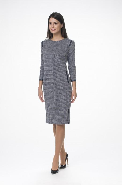 Платье М-1431 синий