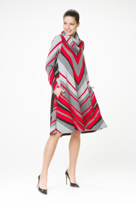 Платье М-1435 диагональ
