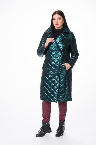 Пальто   М-1613 зеленый
