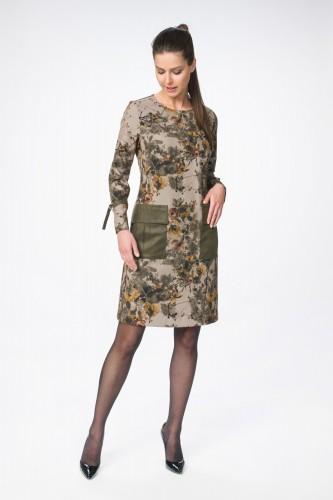 Платье М-1365 хаки